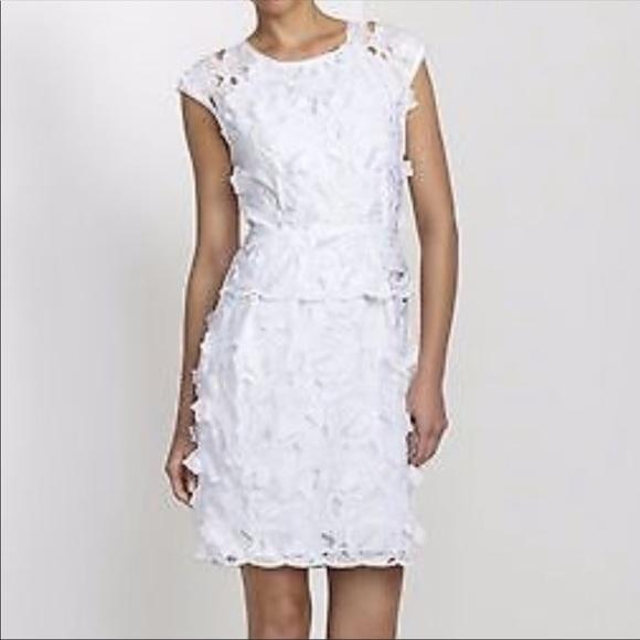 BCBGMaxAzria Dresses & Skirts - NWT BCBGMaxazria Aveline White Lace Appliqué Dress